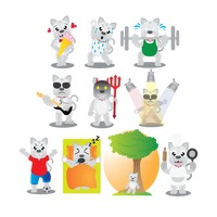 Popular : Cat character with different actions