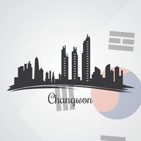 Changwon skyline silhouette