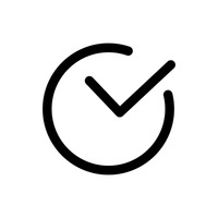 Popular : Checkmark in circle icon