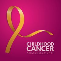Childhood cancer awareness month design
