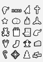 Popular : Christmas icons collection