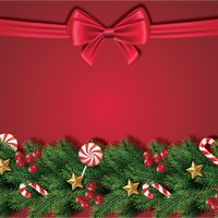 Christmas wreath with ornaments