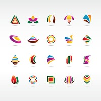 Popular : Collection of abstract design icons