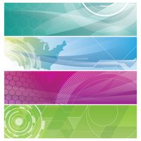 Collection of abstract web banner designs