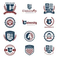 Collection of academic badge designs