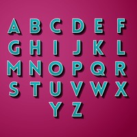 Collection of alphabets