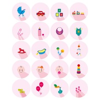 Collection of baby related flat design icons