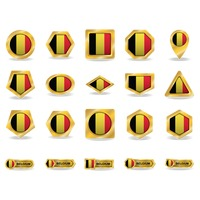 Popular : Collection of belgium flag icons