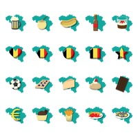 Popular : Collection of belgium icons