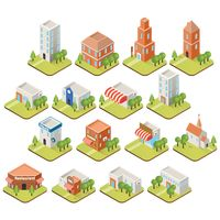 Collection of building isometric