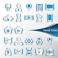Collection of business paper icons