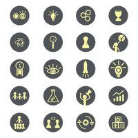 Collection of business strategy icons