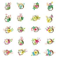 Collection of decorative flower bundles