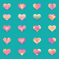Collection of decorative heart design