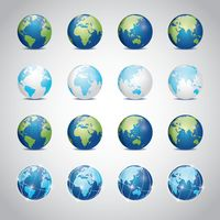 Popular : Collection of earth globes