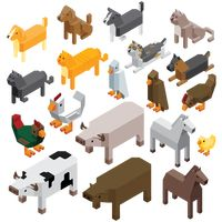 Collection of farm animals