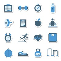 Collection of fitness related icons