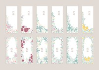 Collection of floral banners
