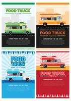 Collection of food truck festival posters
