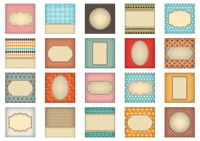 Collection of greeting card template design