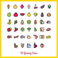 Collection of grocery icons