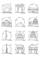 Popular : Collection of japanese landmark