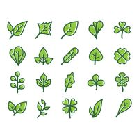 Collection of leaf icons