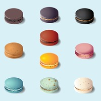 Collection of macarons