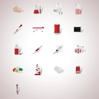 Collection of medical items