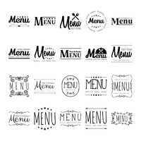 Popular : Collection of menu designs