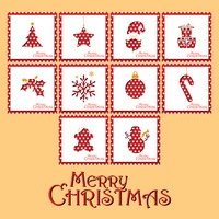 Popular : Collection of merry christmas card design