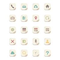 Collection of mobile icons