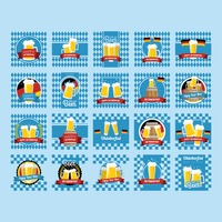 Collection of oktoberfest festival design