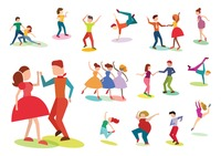 Collection of people striking dance poses