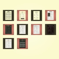 Collection of restaurant menu icons