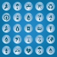 Collection of save water icons