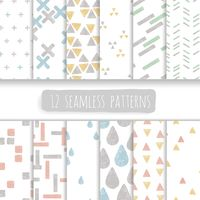 Popular : Collection of seamless patterns