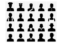 Collection of silhouette people