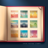 Collection of spain postage stamps