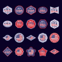 Popular : Collection of usa product stickers