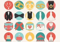 Popular : Collection of wedding icons