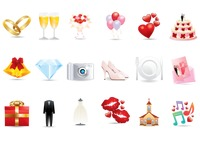Popular : Collection of wedding related icons