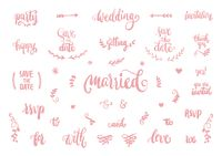 Collection of wedding typography icons