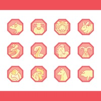 Collecton of chinese zodiac signs