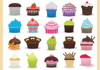 Popular : Colourful cupcakes