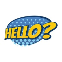 Popular : Comic effect hello