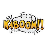 Popular : Comic effect kaboom