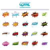 Comic effect templates set