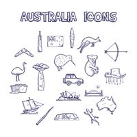 Compilation of australia representation icons