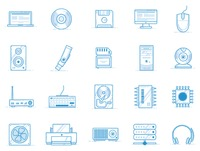 Computer devices icon set